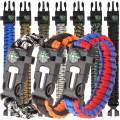 HNYYZL 10 Pack Paracord Bracelet Kit Outdoor Survival Bracelet Camping Hiking Gear with Compass, Fire Starter, Whistle and Emergency Knife