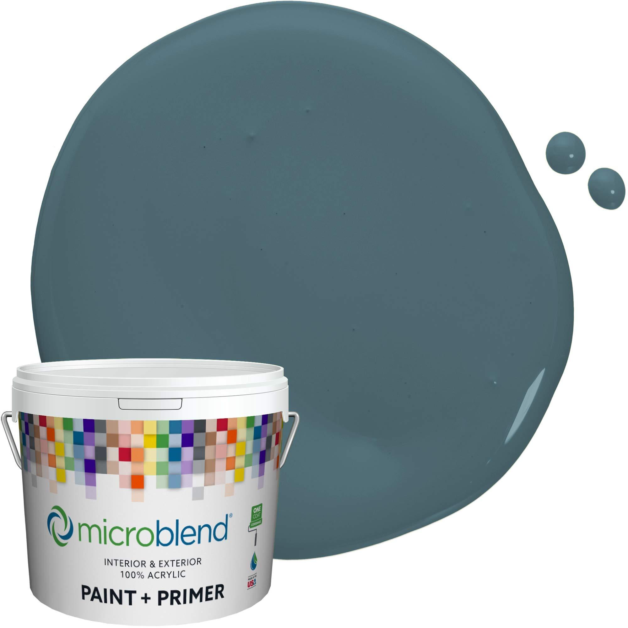 MicroBlend Interior Paint + Primer, Bridgeview, Eggshell Sheen, 1 Gallon, Custom Made, Premium Quality One Coat Hide & Washable Paint (73223-2-M0355B5)
