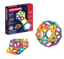 Magformers Basic Set (62-pieces) Magnetic Building Blocks, Educational Magnetic Tiles, Magnetic Building STEM Toy, Multi-colored, Model Number: 63070
