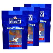 CHEWY LOUIE Bully Treats 3pk - 100% Beef Treat, No Artificial Preservatives, Colors, or Flavors. Tough, Long-Lasting, and Dental Support Dog Treats.