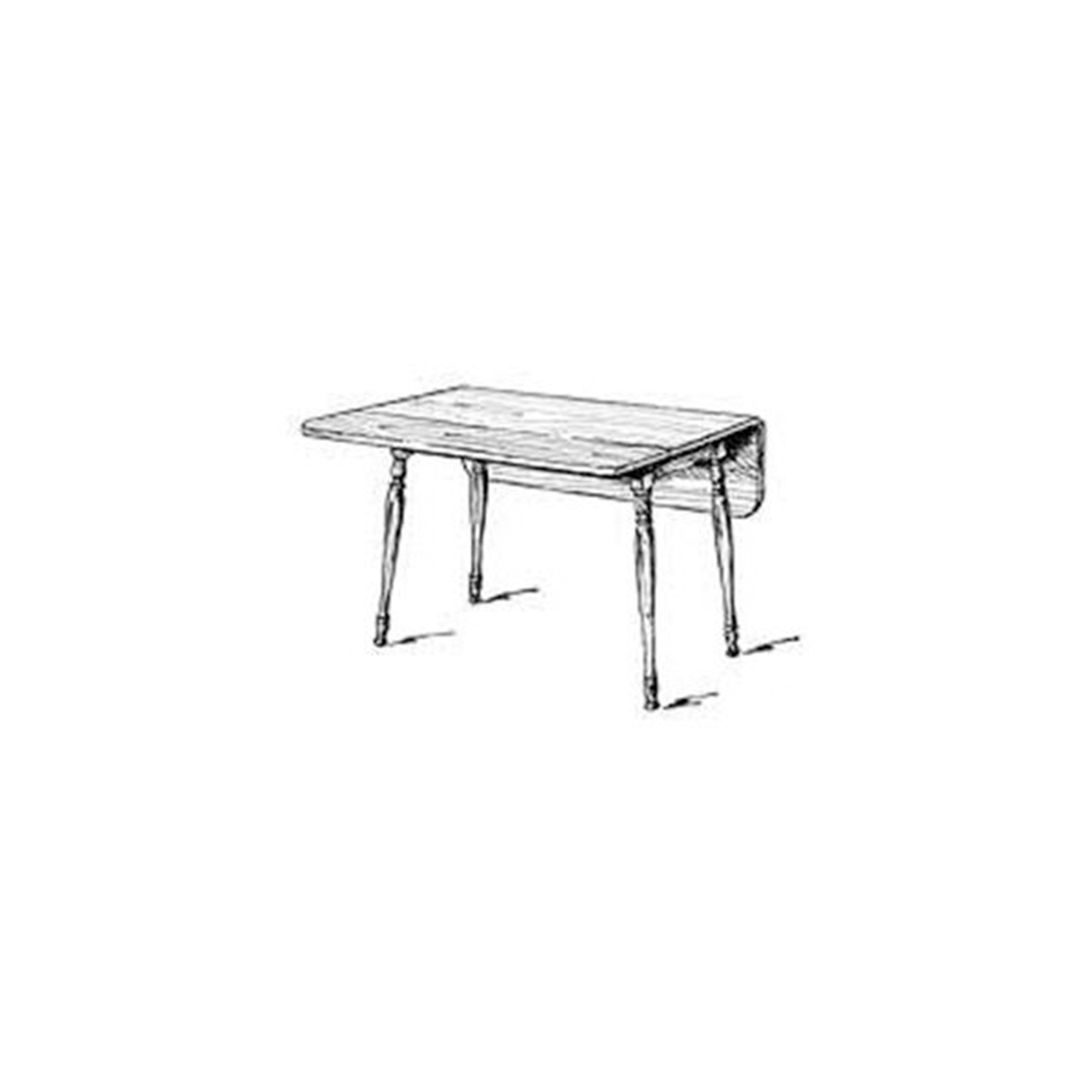 """Woodworking Project Paper Plan to Build Harvest Table, 48"""" Long"""