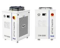 Industrial Chiller Cooler CW-5300 Thermolysis Water Laser Chiller for CO2 Glass Tube of Engraving Machine 10L Capacity 1800W (CW-5300DI)
