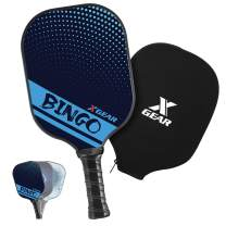 XGEAR Pickleball Paddle Features Polymer Honeycomb Composite Core, Graphite Face, Slim Edge Guard, Cushion Comfort Grip with Cover, Lightweight Racket Indoor Outdoor
