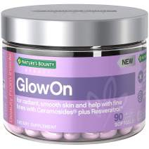 Nature's Bounty Glowon Beauty Multivitamins, with Ceramosides + Resveratrol, Skin Care Relief, for Radiant, Smooth Skin & Help with Fine Lines*, 90 Softgels