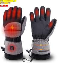 Latest Heated Gloves with 2500 MAH Rechargeable Battery for Men Women, Waterproof Electric Winter Gloves for Skiing, Snowboard, Motorcycle