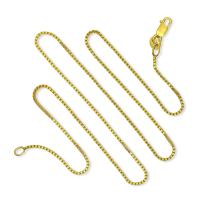 925 Sterling Silver 1MM Gold Plated Italian Box Chain Lobster Claw Clasp - Lifetime Replacement Warranty