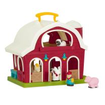 "Battat – Big Red Barn – Animal Farm Playset for Toddlers 18M+ (6Piece), Dark Red, 13.5"" Large x 9"" W x 12"" H"