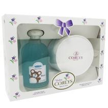 Corlys Cologne Splash 8 Oz and Dusting Powder 3 Oz (Blue, Corlys Boys)