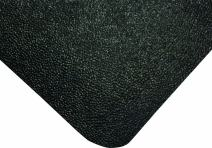 """Wearwell Natural Rubber 447 UltraSoft WeldSafe Anti-Fatigue Beveled Mat, for Dry Areas, 2' Width x 3' Length x 9/16"""" Thickness, Black"""