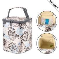 Teamoy Breastmilk Cooler Bag, Baby Bottles Bag for up to 4 Large 9 Ounce Bottles and Ice Pack, Perfect for Nursing Mom Back to Work, (Bag ONLY), Dandelion