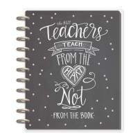 me & my BIG ideas The Happy Planner - Teacher From the Heart Theme - August 2019 to July 2020 - Teacher Layout - Sturdy Laminated Covers - Foil Features Included - Big Size