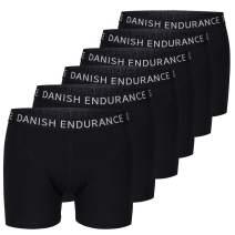 DANISH ENDURANCE Men's Trunks 6-Pack, Stretchy Soft Cotton, Classic Fit Underwear, Boxer Shorts, Superior Comfort
