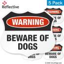 """SmartSign""""Beware of Dogs"""" Warning Decal Set 