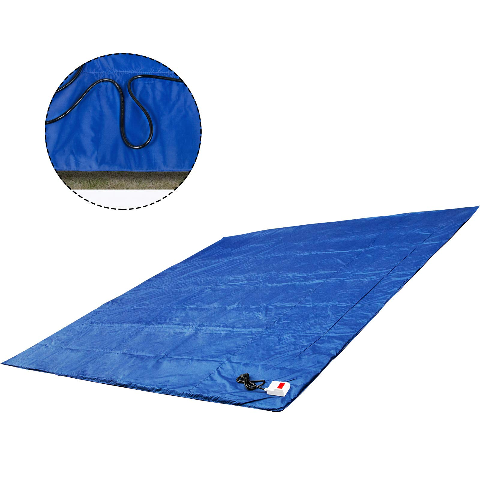 Bestauto Concrete Blanket Electric Concrete Curing Blanket Rapid Thaw Ground Thawing Blanket, Power Blanket Density Blanket Insulated Concrete Heater, 12' x 12' Finished Dimensions for Concrete Ground