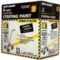 Rust-Oleum P2548849 18-Ounce Spray Paint Striping Paint Contractor, Yellow, 6 Pack