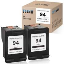 TEINO Remanufactured Ink Cartridge Replacement for HP 94 C8765WN use with HP OfficeJet H470 100 150 7310 7410 7210 Photosmart 8150 8450 2710 B8350 DeskJet 460 6540 9800 PSC 2355 (Black, 2-Pack)
