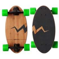 Eggboards Mini Longboard Cruiser Skateboard - The Original. Wide Small Bamboo Skateboards Ride Like Longboards. Complete Longboard for Adults and Kids