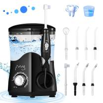 Electric Water floss Dental Braces Care Teeth Cleaning, Water Pick Teeth Cleaner,Dental Water Floss with 8 Jet Tips and 10 Adjustable Pressure for whole Family