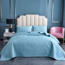 Cotton World Li 3 Piece Bedspread Set King Premium Oversized Quilt Set King Thermal Bed Cover Elegant Luxury Coverlet Comfortable & Lightweight - Wrinkle & Fade Resistant (Light Blue)