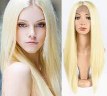 TOFAFA 613 Blonde Lace Front Wigs for Women,Long Straight Synthetic Wig,Daily Use or Cosplay Costume 22 inches