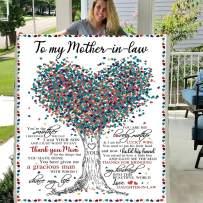 Mother's Day to My mottger in Law mom 3D Custom Fleece Photo Blanket Fan Gift for Daughter Kids Children (X-Large 80 X 60 INCH)