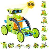 Kidpal Solar Powered Kit Robotics Science Kit for Kids 7 8 9 10 11 12 Year Old Boys & Girls Engineering Toys Build Your Own Robot Kit STEM Robot Building Kit for Teen Boys Age 7 8 9 10