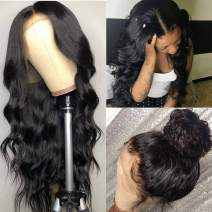 Pizazz 13x4 Lace Front Wigs Human hair with Baby Hair Pre Plucked Bleached Knot 150% Density Brazilian Body Wave Human Hair Wigs Natural Hairline for Black Women(26 Inch, Body Wave Wig)