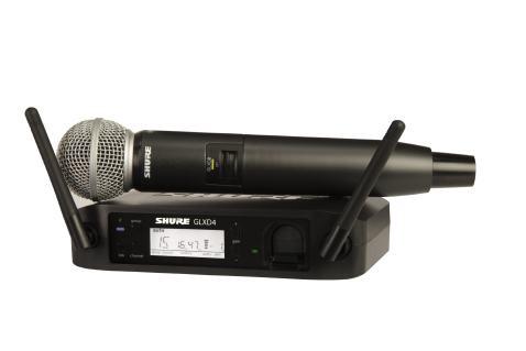 Shure GLXD24/SM58-Z2 Digital Wireless Microphone System with SM58 Vocal Mic