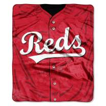 """Officially Licensed MLB Jerssey Plush Raschel Throw Blanket, 50"""" x 60"""", Multi Color"""