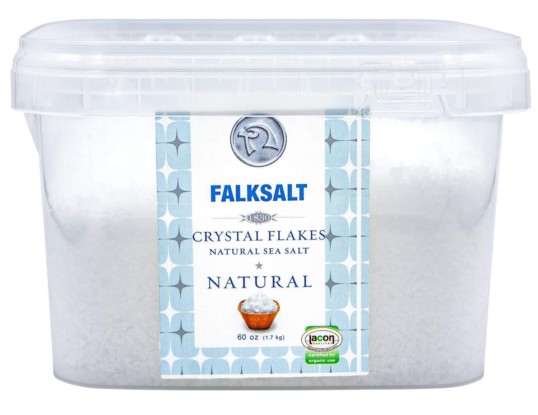 Falksalt 1.7kg Tub - Organic Sea Salt Flakes (smaller/softer flakes)