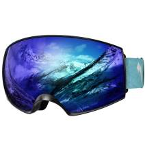 WhiteFang Ski Goggles, Over Glasses OTG Snow/Snowboard Goggles for Men and Women