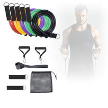 Tolhoom Resistance Bands Set Exercise Band with Door Anchor and Handles Training Workout Fitness Gym