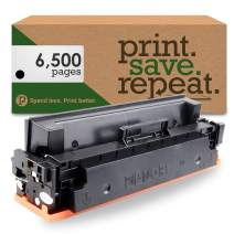 Print.Save.Repeat. HP CF410X (410X) Black High Yield Compatible Toner Cartridge for Color Laserjet M377, M452, M477 [6,500 Pages]