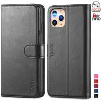 TUCCH iPhone 11 Pro Wallet Case, Magnetic Auto Wake Sleep RFID Blocking Protection Card Slots [TPU Shockproof Interior Case], PU Leather Stand Flip Cover Compatible with iPhone 11 Pro 5.8 inch, Black