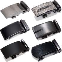 Barry.Wang Mens Buckle Belt Only Designer Multi Buckle Nickel Free Belt Set 6Pieces Business Gift