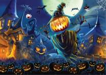 Emotionlin 1000 Piece Halloween Pumpkin Lantern Jigsaw Puzzle Best Hand Work for Kids and Families,Puzzle Play Brain Teasers Puzzles