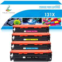 True Image Compatible Toner Cartridge Replacement for HP 131X CF210X 131A Laserjet Pro 200 Color M251nw M251n M251 M276n M276nw CF210A CF211A CF212A CF213A (Black Cyan Yellow Magenta, 4-Pack)