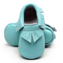 Infant Toddler Moccasins Baby Crib Shoes Soft Leather Sole Tassel Prewalker First Walkers for Boys Girls 0-24 Months