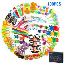 Wekity Party Favors for Kids,100PCS Party Supplies Small Bulk Toy Assortment for Kids Birthday Party Classroom Rewards Carnival Prizes Pinata Filler Treasure Box Goodie Bag Filler (100 PCS)