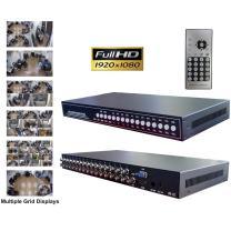 CCTV Camera Pros VM-HD16 16ch HD CCTV Multiplexer | Analog AHD HDCVI HD-TVI Video Processor | BNC VGA HDMI Output