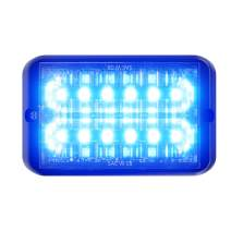 Abrams SAE Class-1 Bold (Blue/Blue) 36W - 12 LED Police & EMS Vehicle Truck LED Grille Light Head Surface Mount Strobe Warning Light