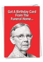 NobleWorks, Funeral Home - Hilarious Birthday Card for Women - Funny Bday Joke Card for Birthdays (with Envelope) C7198BDG
