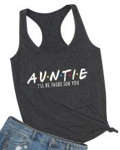 KNEYATTA Womens Auntie I'll Be There for You Tank Top Graphic Funny Vest Top Auntie Gift Best Aunt Top Blouse