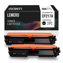 LEMERO Compatible Toner Cartridge Replacement for HP 17A CF217A to use with Laserjet Pro M102w Laserjet Pro MFP M130fw M130nw M130fn (2 Pack)