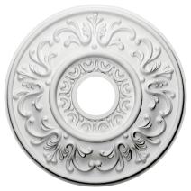 "Ekena Millwork CM18VL Valletta Ceiling Medallion, 18""OD x 3 1/2""ID x 1""P (Fits Canopies up to 3 1/2""), Factory Primed"