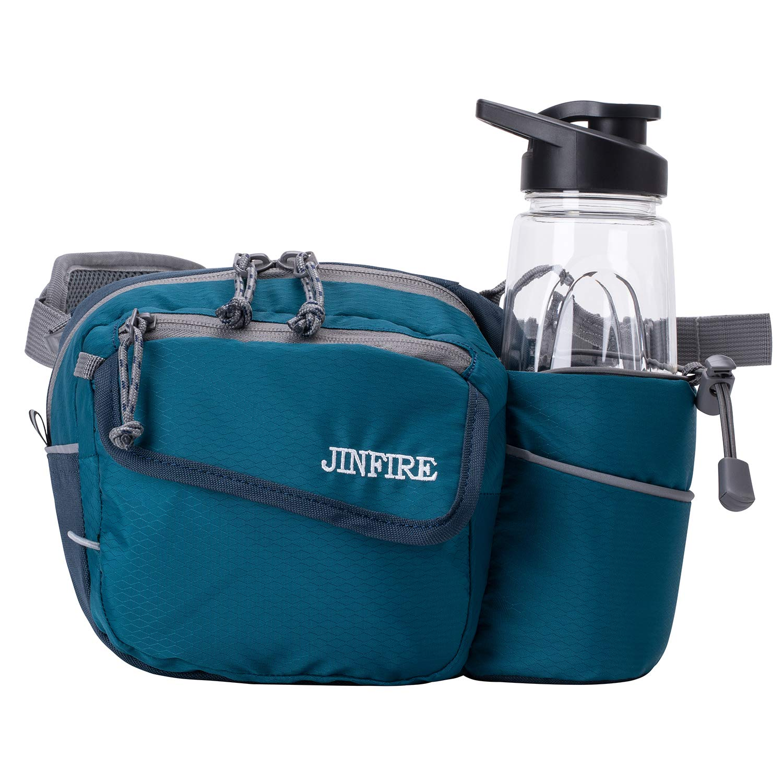 JINFIRE Hiking Waist Bag Fanny Pack Lumbar Pack with Water Bottle Holder for Outdoors Walking, Running, Climbing