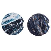 "2.56"" Car Coasters Absorbent for Cup Holders 2 Pack,Auto Ceramic Thirstystone Car Coasters…"