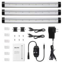 Albrillo Dimmable LED Under Cabinet Lighting, 900lm LED Under Counter Lights for Kitchen Closet Shelf Cupboard, Warm White 3000K, 3 Pack