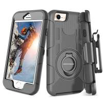 BENTOBEN New iPhone SE 2020 Case, iPhone 8 Case, iPhone 7 Case, Heavy Duty Full Body Rugged Rotating Kickstand Ring Belt Clip Holster Hybrid Shockproof Protective Cover for iPhone SE2/8/7