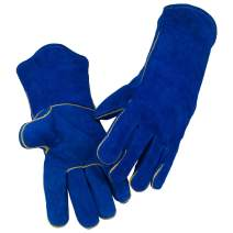 Laproter AB Grade Split Cowhide Leather Welding Gloves Size XL 14 inch- Heat/Fire Resistant, Perfect for Gardening/Oven/Grill/Mig/Fireplace/Stove/Pot Holder/Tig Welder/Animal Handling/BBQ
